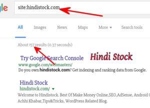 URL Index google