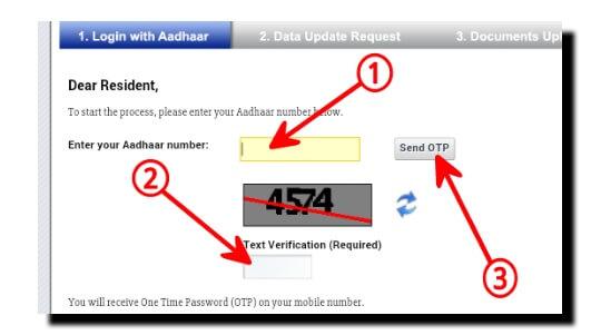 Aadhar Card OTP