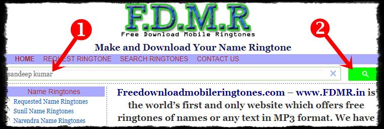 Name Ringtone Download SEARCH